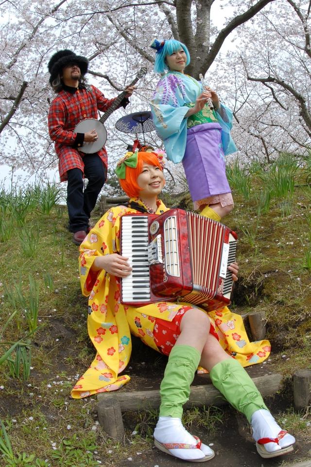 NEOチンドン☆チロル堂@桜満開の鹿児島県立吉野公園
