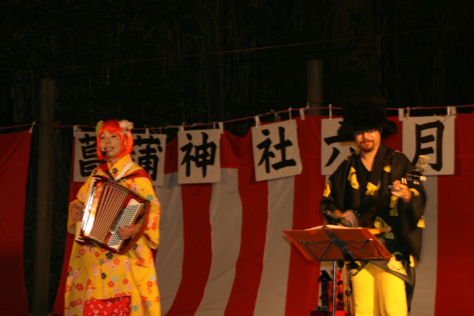 NEOチンドン☆チロル堂@菖蒲神社六月灯