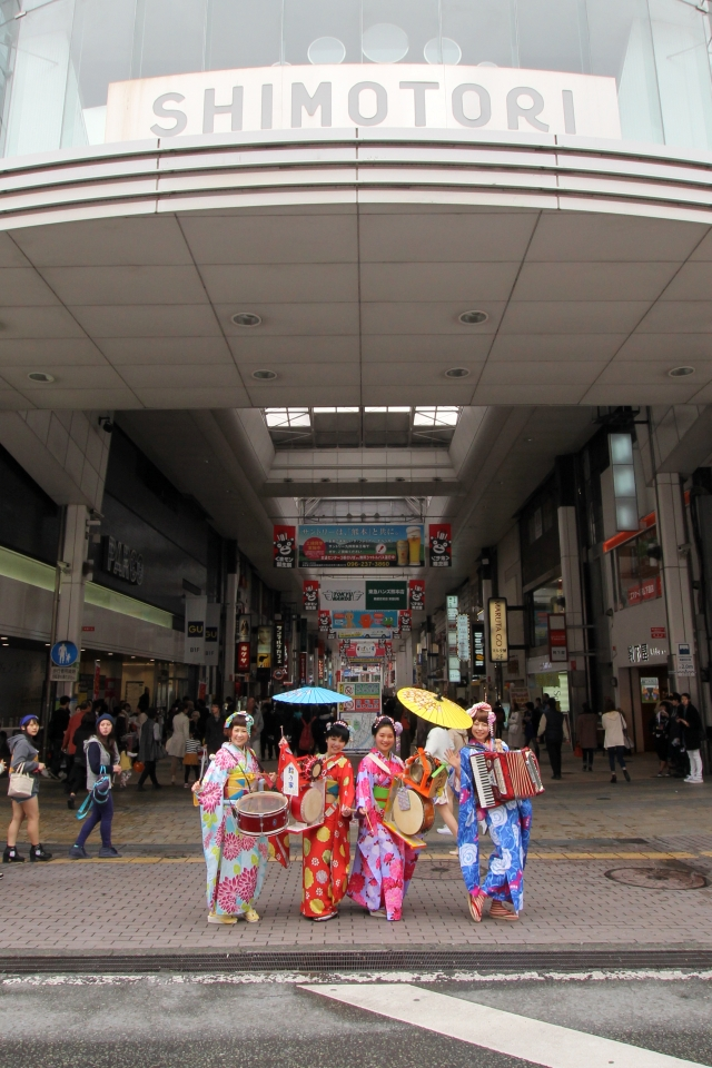ちんどん鈴乃家 with みゆちっち@ストリートアートプレックス熊本2015②