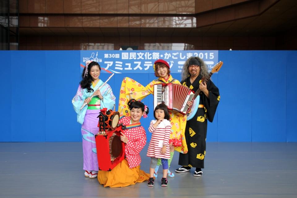 NEOチンドン☆チロル堂@第30回国民文化祭かごしま2015アミュステージ 其の壱